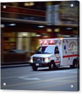 Chicago Fire Department Ems Ambulance 74 Acrylic Print