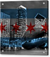 Chicago Flag Bean Acrylic Print