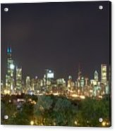 Chicago From Comiskey Acrylic Print
