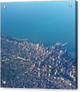 Chicago From Way Up Acrylic Print