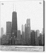 Chicago Frozen Skyline Panorama Acrylic Print