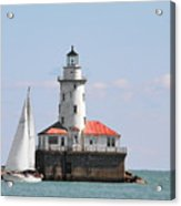 Chicago Harbor Lighthouse Acrylic Print by Christine Till