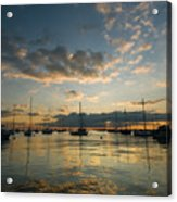 Chicago Harbor Sunrise Acrylic Print