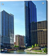 Chicago Heading Up The North River Branch Acrylic Print