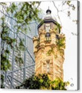 Chicago Historic Water Tower Fog Acrylic Print