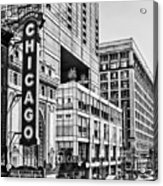 Chicago In Black And White Acrylic Print