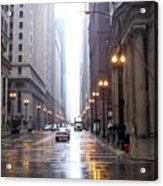 Chicago In The Rain Acrylic Print