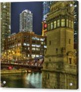 Chicago La Salle Street Bridge Acrylic Print