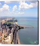 Chicago Lake Acrylic Print by Luiz Felipe Castro