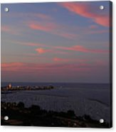 Chicago Lakefront At Sunset Acrylic Print