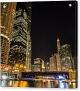 Chicago - Looking East From Dearborn Street Acrylic Print