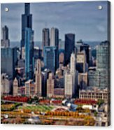 Chicago Looking West 02 Acrylic Print