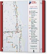 Chicago Marathon Race Day Route Map 2014 Acrylic Print