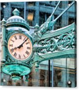 Chicago Marshall Field State Street Clock Acrylic Print