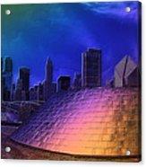 Chicago Millennium Park Bp Bridge Pa 01 Prismatic Acrylic Print