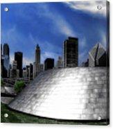 Chicago Millennium Park Bp Bridge Pa 01 Acrylic Print