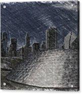 Chicago Millennium Park Bp Bridge Pa 02 Acrylic Print