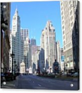 Chicago Miracle Mile Acrylic Print