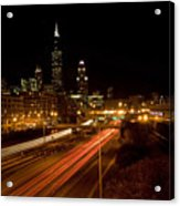 Chicago Night Skyline Acrylic Print