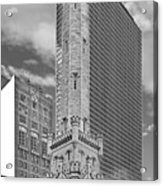 Chicago - Old Water Tower Acrylic Print by Christine Till