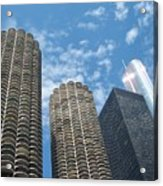 Chicago On A Bright Blue Day Acrylic Print