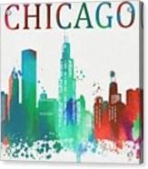 Chicago Paint Splatter Acrylic Print