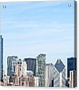 Chicago Panoramic Skyline High Resolution Picture Acrylic Print