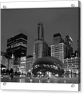 Chicago Park In Lights Acrylic Print