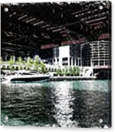 Chicago Parked On The River In June 03 Pa 01 Acrylic Print