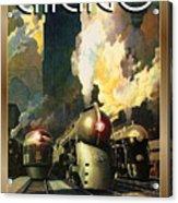 Chicago Railway, Steam Trains Acrylic Print