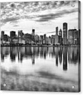 Chicago Reflection Acrylic Print by Donald Schwartz