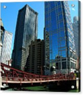 Chicago River - Chicago Boat Tour Acrylic Print
