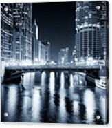 Chicago River At State Street Bridge Acrylic Print