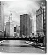 Chicago River Buildings Skyline Acrylic Print by Paul Velgos