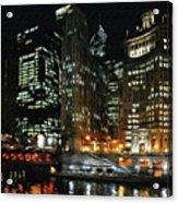 Chicago River Crossing Acrylic Print