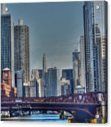 Chicago River East Acrylic Print