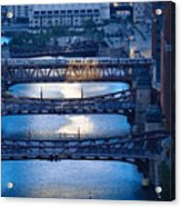 Chicago River First Light Acrylic Print