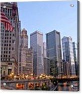 Chicago River From The Michigan Avenue Bridge Acrylic Print