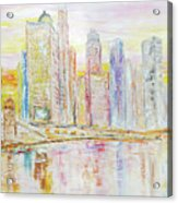 Chicago River Skyline Acrylic Print