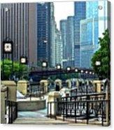 Chicago River Walk Invites You Acrylic Print