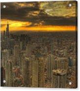 Chicago Setting Acrylic Print