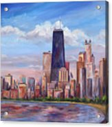 Chicago Skyline - John Hancock Tower Acrylic Print