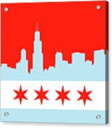 Chicago Skyline 541 1 Acrylic Print