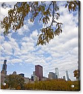 Chicago Skyline And Fall Colors Acrylic Print
