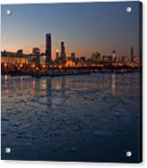 Chicago Skyline At Dusk Acrylic Print