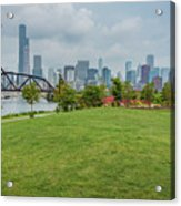 Chicago Skyline From The Southside Acrylic Print