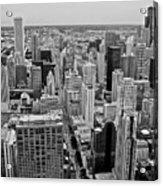 Chicago Skyline Landscape Acrylic Print