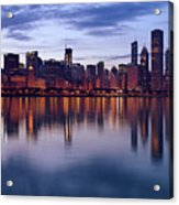 Chicago Skyline March 2009 Acrylic Print