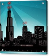 Chicago Skyline Acrylic Print by Sandra Hoefer