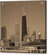 Chicago Skyline Sepia #10 Acrylic Print